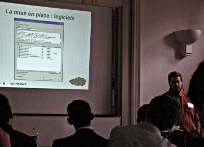 Cedric Girard presenting