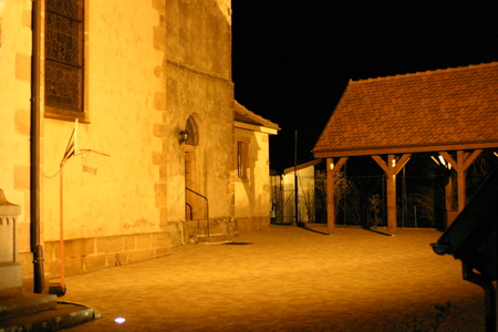 Church square at night - Itterswiller